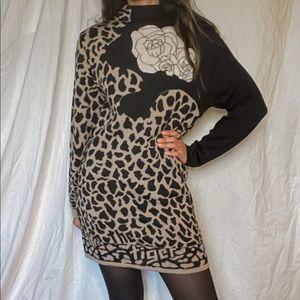 80s vintage Mondi sweater dress